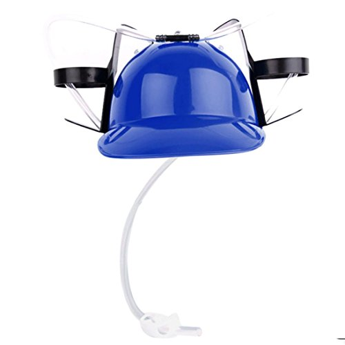 Tpingfe New Exotic Beer & Soda Guzzler Helmet & Drinking Hat Novelty Gift Toys (Blue)