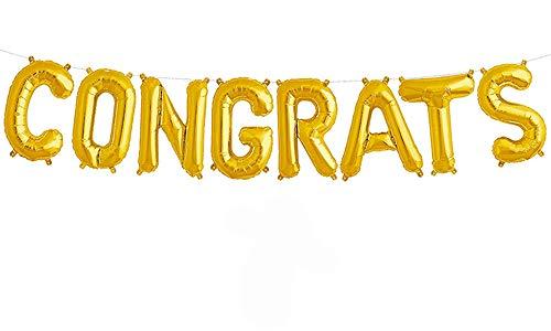 (Tellpet Congrats Balloons Gold For Graduation Party, 17)