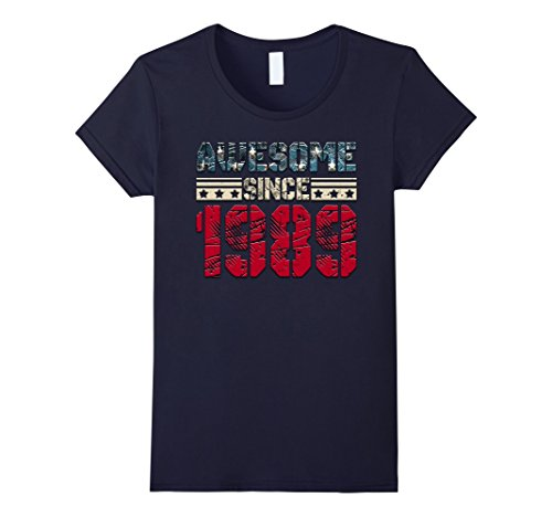 Womens Awesome Since Legends Born In 1989 Birthday Gift 29 Yrs Old Small Navy