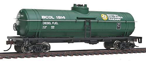 (Walthers, Inc. Ready to Run British Columbia Railway Tank Car, Green/Yellow/White)