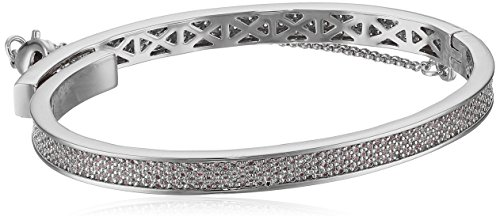 EDDIE BORGO Extra Thin Safety Chain Pave Rhodium Plated for sale  Delivered anywhere in USA