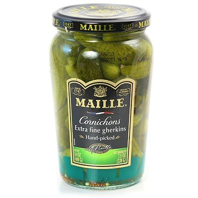 French Extra Fine Gherkins Maille-Cornichons Extra Fins-2 Jar Pack by - Pickles Gherkin