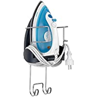 Brabantia Wall-Mounted Iron Rest and Hanging Ironing Board Holder - Cool Gray, 385742