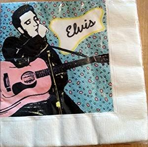 Elvis Presley Party Plates Luch Dessert Napkins Decoration x16 & Amazon.com: Elvis Presley Party Plates Luch Dessert Napkins ...