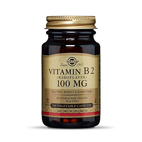 Solgar – Vitamin B2 (Riboflavin) 100 mg, 100 Vegetable Capsules
