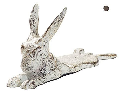 Vintage Cast Iron Bunny Rabbit Door Stop Wedge By Comfify