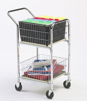 Charnstrom Compact Basket Cart with Dual Handle and 4-Inch Casters (M244)