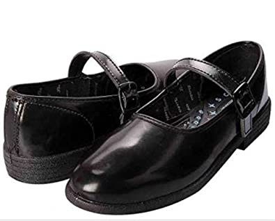 School Shoes for Girls (Black) Size
