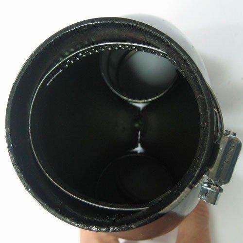 Boloromo 407D Universal Auspuff Blende Endrohr Edelstahl Auspuffblende 43-55mm /Ø Chrom