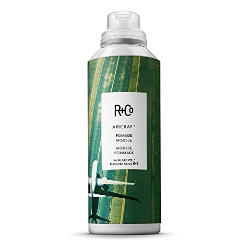 R+Co Aircraft Pomade Mousse, 5.75 oz (Best Pomade For Wavy Hair)