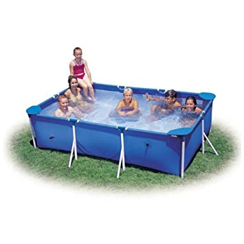 Intex 2.2m X 1.5m Rectangular Metal Frame Swimming Paddling Pool