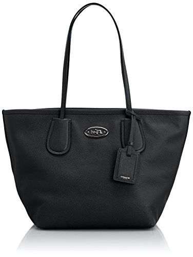 Coach Womens Crossgrain Taxi Zip Tote Handbag Leather 339...