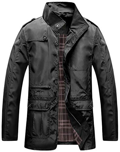 Men's Winter Warm Jacket Water Resistant Windbreak Thicken Cotton Work Coat Stand Collar Outerwear