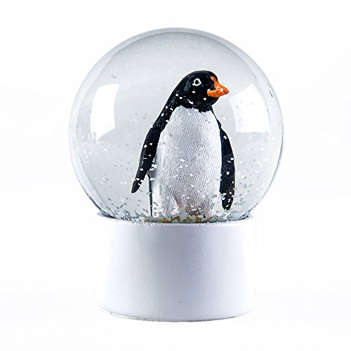 APELPES Snow Globe Crafts- Sculptured Resin Water Ball - Christmas Valentine's Day Birthday Holiday New Year's Gift (Diameter 100mm, Penguin) (Globes Cheap Snow)