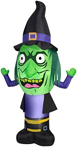 GEMMY INDUSTRIES Inflatable Stumpy Head Witch Outdoor Decor, -