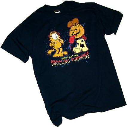 Garfield Drooling Pumpkins Adult Work Shirt