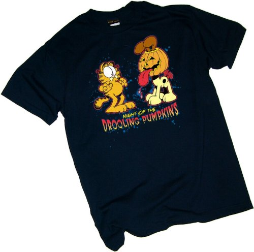 Night Of The Drooling Pumpkins -- Halloween -- Garfield Youth T-Shirt, Youth Medium