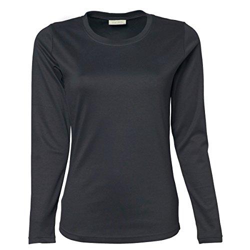 Larga Oscuro Mujer Manga Camiseta Para Jays Gris Tee De q1R8wIxwF