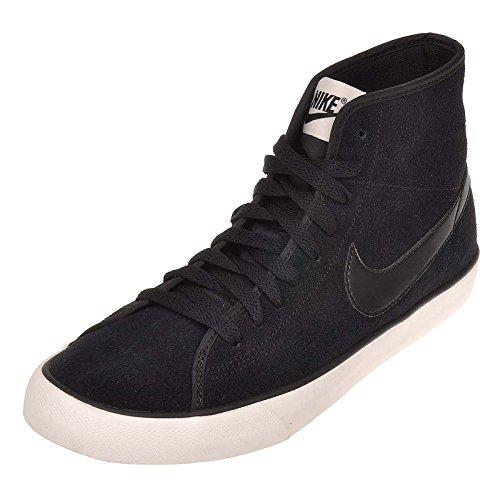 Nike Womens Primo Domstol Mid Semsket Ankel-high Fashion Sneaker Sort / Sort Seil
