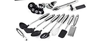 Gibson Home 92021.18 Eclectic 18 Piece Kitchen Tool/Gadget Combo Set, Silver