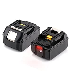 2Pack BL1850B 5.0Ah Battery Replacement for Makita 18V LXT BL1850B-2 BL1840 BL1830 BL1815 Cordless Power Tools