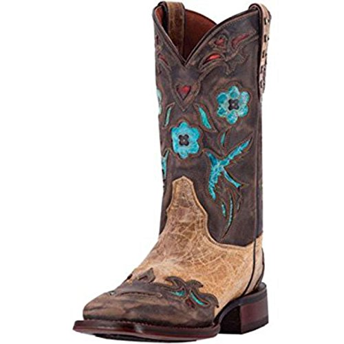 Dan Post Cowboy Certified Womens Tan CC Bluebird Leather Boots 11in 7.5 M
