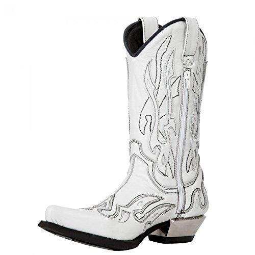 New Rock Boots M.7921-c18 Cowboy Biker Unisex Stiefel Weiß