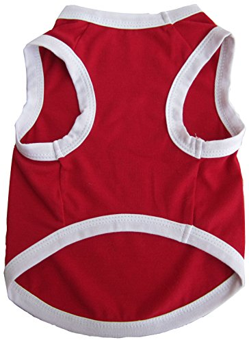 - Iconic Pet Pretty Pet Tank Top, X-Small, Red