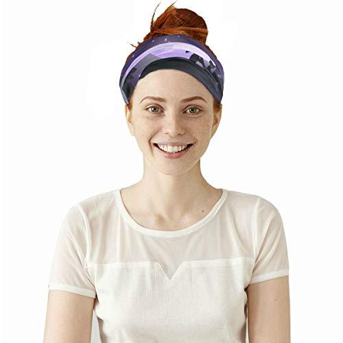 Lexav Good Night Time Nature Moon Elastic Headbands Head Wrap Shawl Sports Sweatband Face Mask Magic Scarf Hair Accessories Bands Ties for Women Men Girls Running Workout Fitness -