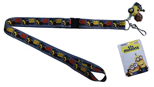 Despicable Me Minions Minion Crominion Lanyard ID Badge Keychain with Charm