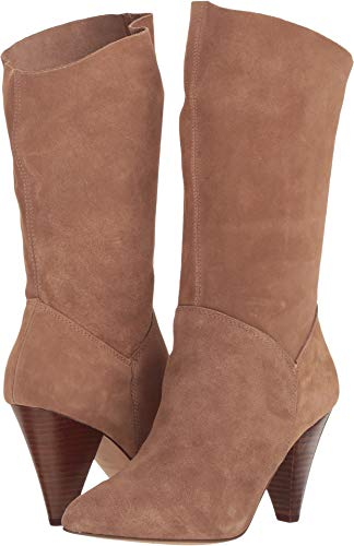 Steve Madden Women's Rein Boot Dress, Tan Suede, Size 6.5