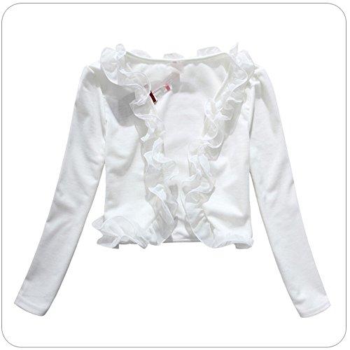 Piccolo Manica Forti Bianco Casual Ragazza Di Corti Donna Cardigan Donne Solido Bolero Colore Lunga Cappotto Elegante Abbigliamento Taglie Aqx65FUwS