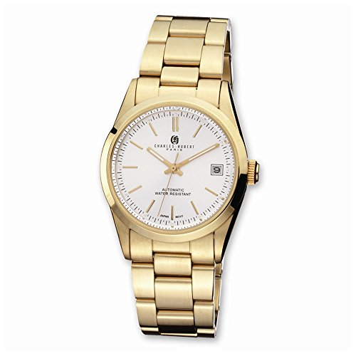 (Charles-Hubert, Paris Men's 3826 Premium Collection Gold-Plated Stainless Steel Automatic Watch)