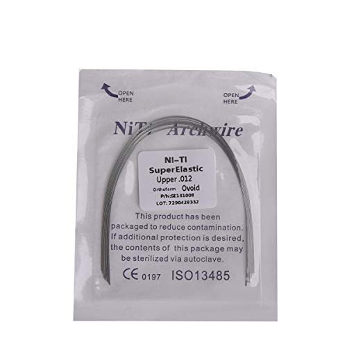 10Wires Orthodontic NITI Arch Wire, Round Wires, Upper, 0.012''