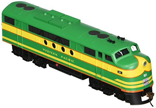 Bachmann Industries E-Z App Smart Phone Controlled Western Pacific #901 FT Locomotive Train, Green & Yellow - Locomotive Train Phone