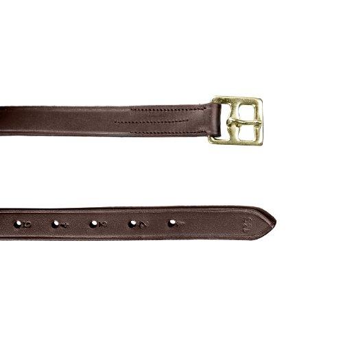 HORZE Stirrup Leathers - Dark Brown- Size: US - Leather Steel Stirrups