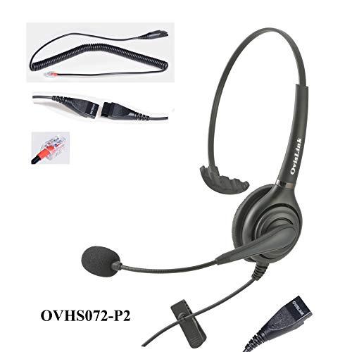 RJ9 (RJ22) Call center headset for Avaya (96xx series only), Grandstream, Snom, Zultys Phones