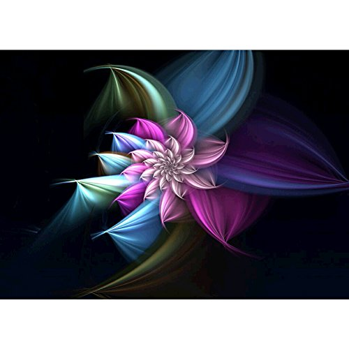 Pearl Colored Pen - DIY 5D Diamond Painting by Number Kits, Crystal Rhinestone Diamond Embroidery Paintings Pictures Arts Craft for Home Wall Decor, Colored Flowers