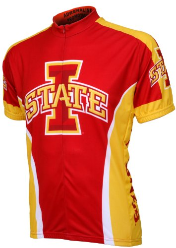 NCAA Iowa State Cycling Jersey,Red, Large