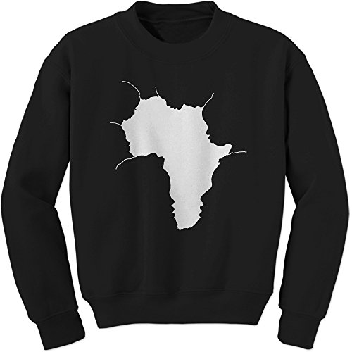 FerociTees Crew Faces Of Africa African American Pride History Adult Small Black by FerociTees