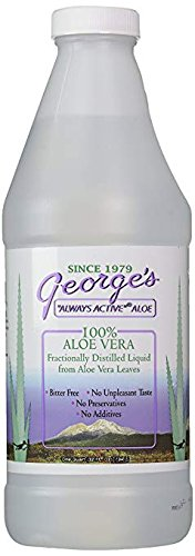 George's Aloe Vera, 100% Aloe Vera Liquid, 3 Pack (32 fl oz (.94 l)) 100% Fractionally Distilled Aloe Barbadensis