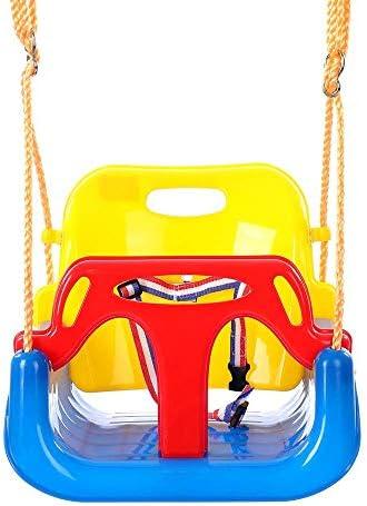 3-in-1ガーデンスイング49x48x34cm小さな子供6-72ヶ月青-赤(屋外)