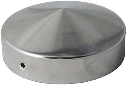 Pfostenkappen rund aus Edelstahl Ø 80 mm  mit Kugel Ø 80mm rostfrei