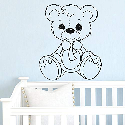 Teddy Bear Wall Decals for Kids Room - Teddy Bear Toy Boys Girls Bedroom Baby Nursery Room Playroom Quotes Sticker Décor - Playroom Vinyl Decorations TB013