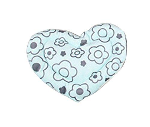 Jakerbing Blaue Blume Herz-Form Weiche Kissen Hamster Haustier Katze Warm Bed Mat