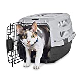 "Animaze Standard Kennel for Dogs or Cats, 18.5"" L x 12"" W x 10"" H, XX-Small, Black/Gray"