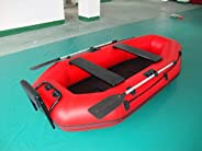 Inflatable 3 Person Self Baling Fishing Mariner Dingy Raft Boat W/Motor Board
