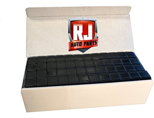 1 Box Wheel Weights, Black .25 oz. Stick-on Adhesive Tape, Lead Free, (9.75 lbs) 624 Pieces by RJ Auto Parts