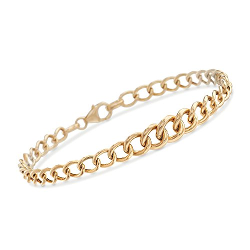 Curb Link Graduated (Ross-Simons Italian 18kt Yellow Gold Graduated Curb-Link Bracelet)