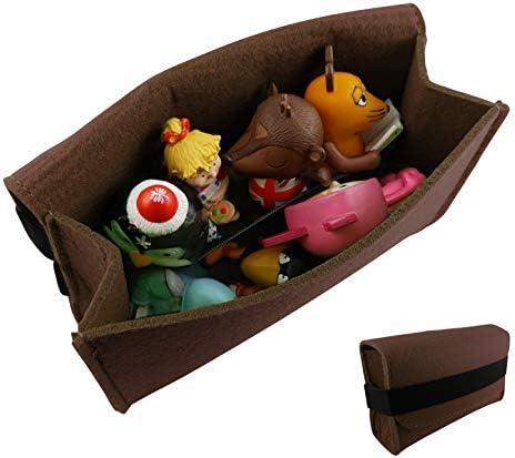 Tas voor Tonies luisterfiguren en tijgerkaarten van viltbruingeschikt voor Toniebox tot 8 Tonie figuren tijgerbox Touchtoniefiguren tonifiguur toniefiguur opslag transporttas